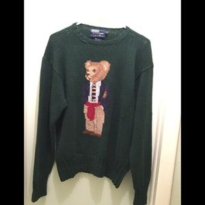 Vintage Ralph Lauren Polo Teddy Bear Sweater